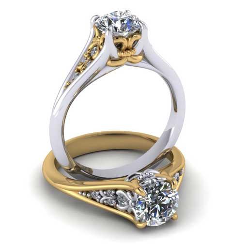custom design ring - Vintage Style Engagement Ring