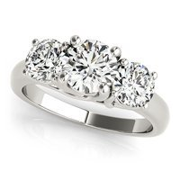3 Stone Side Engagement Ring