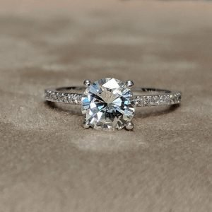 1 Carat Round Pave Engagement Ring